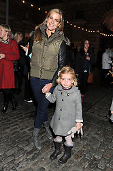 INDIA HICKS and her daughter DOMINO at a Winter Party hosted by Tiffany to celebrate the opening of the Ice Rink at Somerset House for Christmas 2011 held on 21st November 2011.