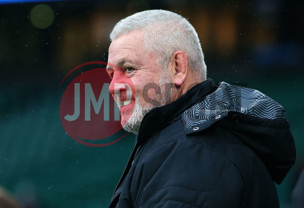Wales head coach Warren Gatland - Mandatory by-line: Robbie Stephenson/JMP - 10/02/2018 - RUGBY - Twickenham Stoop - London, England - England v Wales - Women's Six Nations