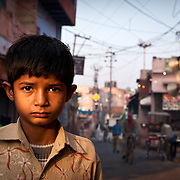 Boy in the streets of Taj Ganj, Agra.