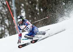 "Robby Kelley (USA) competes during 1st Run of FIS Alpine Ski World Cup 2017/18 Men's Slalom race named ""Snow Queen Trophy 2018"", on January 4, 2018 in Course Crveni Spust at Sljeme hill, Zagreb, Croatia. Photo by Vid Ponikvar / Sportida"