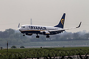 Ryanair at Manchester Airport, Manchester, United Kingdom on 14 March 2020.