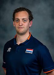 21-05-2019 NED: Team shoot Dutch volleyball team men, Arnhem<br /> Videoscout Willem de Wit of Netherlands