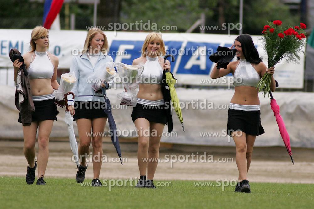 Dance grup Angels at Speedway European Championship race semi finals of individuals, on June 19, 2010, in Sportni park Ilirije, Ljubljana, Slovenia. (Photo by Urban Urbanc / Sportida)