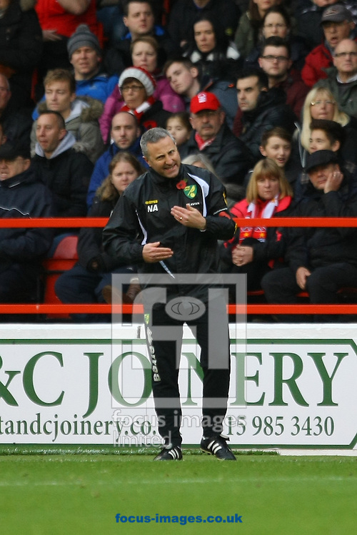 Norwich Manager Neil Adams during the Sky Bet Championship match at the City Ground, Nottingham<br /> Picture by Paul Chesterton/Focus Images Ltd +44 7904 640267<br /> 08/11/2014
