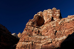 Sandstone rock formations, Capitol Gorge, Capitol Reef National Park, Utah, United States of America