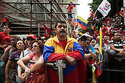Militants attend the sworn cerimony as President of Venezuela of Nicolas Maduro Moro.