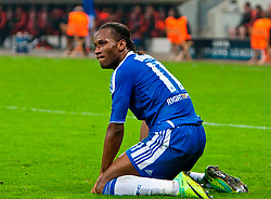 23.11.2011, BayArena, Leverkusen, Germany, UEFA CL, Gruppe E, Bayer 04 Leverkusen (GER) vs Chelsea FC (ENG), im Bild Chelsea's Didier Drogba rues a missed chance against Bayer Leverkusen during the football match of UEFA Champions league, group E, between Bayer Leverkusen (GER) and FC Chelsea (ENG) at BayArena, Leverkusen, Germany on 2011/11/23. EXPA Pictures © 2011, PhotoCredit: EXPA/ Sportida/ David Tickle..***** ATTENTION - OUT OF ENG, GBR, UK *****