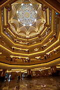 Emirates Palace Hotel. 7 Star luxury, state-owned and managed by Kempinski. The huge dome.