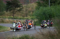 LONDON UK 29TH JULY 2016:   . Prudential RideLondon Elite Handcycle Grand Prix at the London Velo Park. Prudential RideLondon in London 29th July 2016<br /> <br /> Photo: Jed Leicester/Silverhub for Prudential RideLondon<br /> <br /> Prudential RideLondon is the world&rsquo;s greatest festival of cycling, involving 95,000+ cyclists &ndash; from Olympic champions to a free family fun ride - riding in events over closed roads in London and Surrey over the weekend of 29th to 31st July 2016. <br /> <br /> See www.PrudentialRideLondon.co.uk for more.<br /> <br /> For further information: media@londonmarathonevents.co.uk