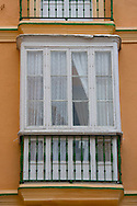 An old wooden window in Cadiz, Spain