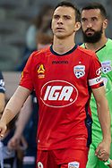 Adelaide United midfielder Isaias (8) walks out at the Hyundai A-League Round 7 soccer match between Melbourne Victory v Adelaide United at Marvel Stadium in Melbourne, Australia.