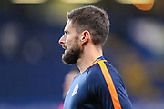 Chelsea forward Olivier Giroud (18) warms prior to the Champions League group stage match between Chelsea and PAOK Salonica at Stamford Bridge, London, England on 29 November 2018.
