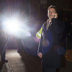 © Licensed to London News Pictures. 08/02/2016. London, UK. JEREMY HUNT leaves The Brewery in London after the annual Conservative Party Black & White Ball, a Conservative Party fundraiser.  Photo credit: Ben Cawthra/LNP