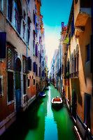 """Canal near the Accademia Bridge in Venice""..."