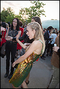 MARY CHARTERIS, 2014 Serpentine's summer party sponsored by Brioni.with a pavilion designed this year by Chilean architect Smiljan Radic  Kensington Gdns. London. 1July 2014
