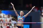 Erika Kinsey of Sweden  clears the bar during the Women's High Jump at the Muller Anniversary Games at the London Stadium, London, England on 9 July 2017. Photo by Martin Cole.