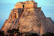 MEXICO, MAYAN, YUCATAN Uxmal; Pyramid of the Magician