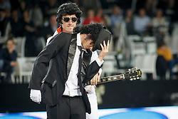 Team Elvis and Michael Jackson, Wathelet Gregory, Dakota, Guerdat Steve, Alonsa <br /> Fancy Dress<br /> Vlaanderen Kerstjumping - Memorial Eric Wauters - <br /> Mechelen 2015<br /> © Hippo Foto - Dirk Caremans<br /> 29/12/15