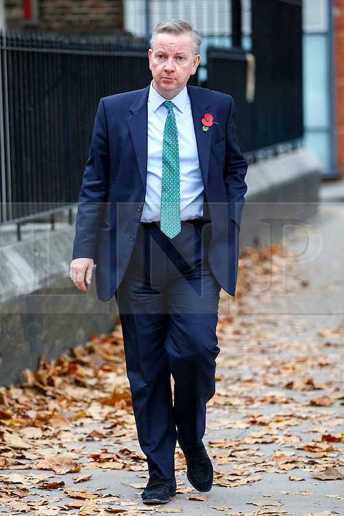 © Licensed to London News Pictures. 03/11/2015. London, UK. Justice Secretary Micheal Gove attending a memorial service for ex-Liberal Democrat leader Charles Kennedy at St George's Cathedral in London on Tuesday, 3 November, 2015. Mr Kennedy died suddenly on June 1, 2015 at the age of 55 after suffering a major haemorrhage as a result of a long battle with alcoholism. Photo credit: Tolga Akmen/LNP