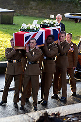 © Licensed to London News Pictures. 15/12/2011. Leeds, UK. The funeral of Rifleman Sheldon Steel, (20), of the 5th Battalion The Rifles, who was killed by an explosion in Helmand Province, Afghanistan, whilst on foot patrol on November 27th. Photo credit : Joel Goodman/LNP