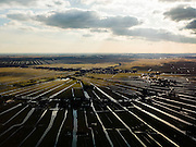 Nederland, Utrecht, Gemeente Woerden, 20-02-2012; Lagebroek en Polder Zuider Lagebroek met waaierverkaveling.Polder and land division, fan-shaped patchwork..luchtfoto (toeslag), aerial photo (additional fee required).copyright foto/photo Siebe Swart