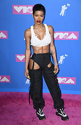 Teyana Taylor arriving at the MTV Video Music Awards 2018, Radio City, New York. Photo credit should read: Doug Peters/EMPICS