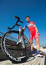 Primoz Roglic of Cycling Team Adria Mobil poses for a portrait session ahead of the 2014 road season on February 25, 2014 in Cesca vas at Novo mesto, Slovenia. Photo by Vid Ponikvar / Sportida