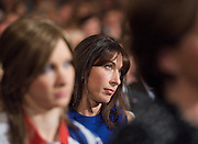 Conservative Party Conference, ICC, Birmingham, Great Britain <br /> 10th October 2012 <br />  Day 4<br /> <br /> Rt Hon David Cameron MP <br /> Prime minister <br /> keynote speech <br /> <br /> Samantha Cameron watching speech <br /> <br /> Photograph by Elliott Franks<br /> <br /> United Kingdom<br /> Tel 07802 537 220 <br /> elliott@elliottfranks.com<br /> <br /> ©2012 Elliott Franks<br /> Agency space rates apply