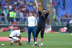 May 13, 2018 - Rome, Italy - Gianluigi Buffon of Juventus greeting the supporters at Olimpico Stadium in Rome, Italy on May 13, 2018 during Serie A match between AS Roma and Juventus. (Credit Image: © Matteo Ciambelli/NurPhoto via ZUMA Press)