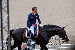 GAL Edward (NED), GLOCK'S ZONIK N.O.P.<br /> Rotterdam - Europameisterschaft Dressur, Springen und Para-Dressur 2019<br /> Longines FEI European Championships Dressage Grand Prix - Teams (2nd group)<br /> Teamwertung 2. Gruppe<br /> 20. August 2019<br /> © www.sportfotos-lafrentz.de/Sharon Vandeput