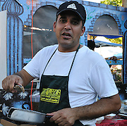 Food vendor at Tucson Meet Yourself international culture festival.