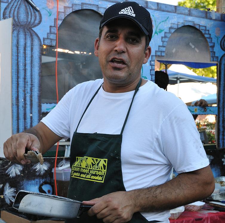 Food vendor at Tucson Meet Yourself international culture festival.