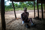 A Xerente indigenous runner gets ready for training at his village near Tocantinia Brazil, Friday, October 2, 2015.  One nearly empty vastness some decades ago, the northern part of Goias state territory, Tocantins was the latest Brazilian state to be created,  27 years ago. Now, luring Brazilians with an abundance of natural resources, its indigenous heritage, an aura of sustainability, infrastructure and lower prices, the government vows that this solid investment package will make up the facade of a land of opportunity. And eventually attract qualified workforce to populate the area. Profiting from side publicity of two world events, Brazil aims at throwing some light on its developmental potential, and has already helped to transform the locally known national indigenous games in the first international event of this type. In some weeks thousands of indigenous athletes from 24 countries will flock to the arena to compete, share and showcase their faces to the world.  (Hilaea Media/ Dado Galdieri for the Wall Street Journal)
