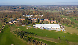 VIDEO AVAILABLE https://we.tl/t-9WnuIVVqWH  © Licensed to London News Pictures. 30/11/2019. Watford, UK. Aerial views of The Grove Hotel near Watford, north of London, show a large marqee has been built in the grounds in preparation for the NATO Leaders Meeting taking place on December 3rd, 2019.Photo credit: LNP