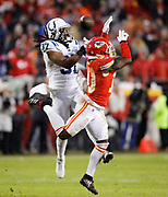 The Kansas City Chiefs and Indianapolis Colts during an NFL AFC Divisional football game at Arrowhead Stadium in Kansas City, Mo., Saturday, Jan. 12, 2019.  (AP Photo/Colin E. Braley)
