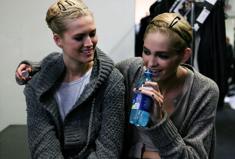 Milan, Italy, September 27, 2010. Backstage at Giorgio Armani during the Milan Women's Fashion Week Spring/Summer 2011.