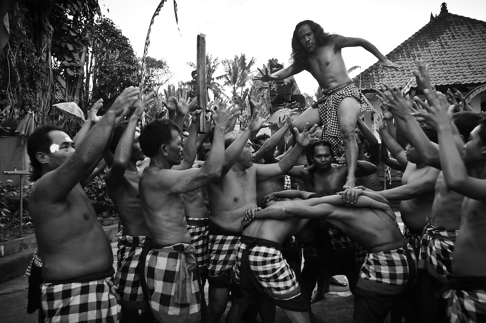 Kecak dance performance by Pak Reno, Ubud, Bali, Indonesia.