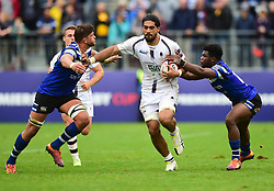 Michael Fatialofa of Worcester Warriors - Mandatory by-line: Alex James/JMP - 28/09/2019 - RUGBY - Recreation Ground - Bath, England - Bath Rugby v Worcester Warriors - Premiership Rugby Cup