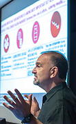 Photo by Mara Lavitt<br /> May 2, 2019<br /> The Anlyan Center, Yale School of Medicine, New Haven.<br /> <br /> Regeneron co-founder George Yancopoulos gave the 2019 Gruber lecture.