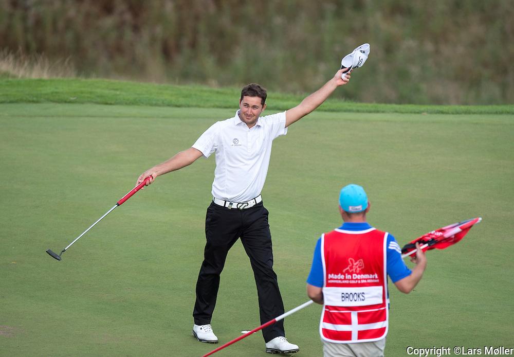DK Caption:<br /> 20140815, Aars, Danmark:<br /> Made in Denmark Golf. 2. runde: Daniel Brooks (ENG) laver en birdie p&aring; 16. hul<br /> Foto: Lars M&oslash;ller<br /> UK Caption:<br /> 20140815, Aars, Denmark:<br /> Made in Denmark Golf.  2nd round: Daniel Brooks (ENG) makes a birdie at the 16th hole<br /> Photo: Lars Moeller