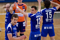 Jernej Potocnik of Salonit at final match of Slovenian National Volleyball Championships between ACH Volley Bled and Salonit Anhovo, on April 24, 2010, in Radovljica, Slovenia. ACH Volley defeated Salonit 3rd time in 3 Rounds and became Slovenian National Champion.  (Photo by Vid Ponikvar / Sportida)