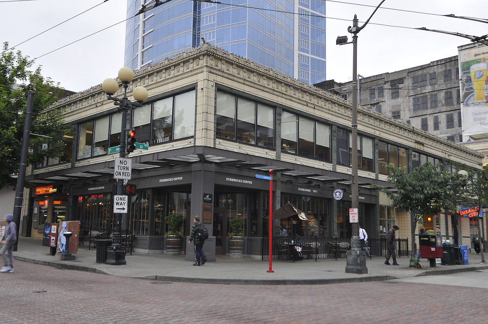 First Starbucks coffee house opened here in 1971, Seattle, Washington, USA