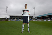 Dundee's new central defender Declan Gallagher models the Club's 2012-13 away kit..- © David Young - 5 Foundry Place - Monifieth - DD5 4BB - Telephone 07765 252616 - email; davidyoungphoto@gmail.com
