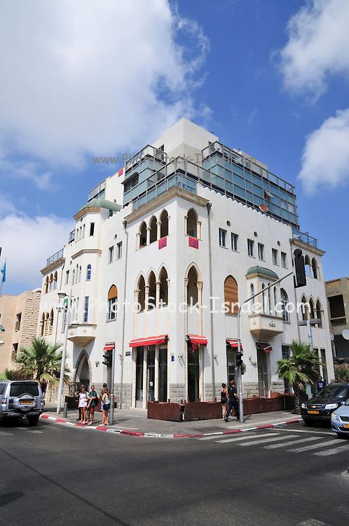 Israel, Tel Aviv The renovated building at Allenby and Hayarkon junction,