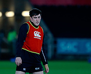 Ospreys' Sam Davies during the pre match warm up<br /> <br /> Photographer Simon King/Replay Images<br /> <br /> Guinness PRO14 Round 19 - Ospreys v Leinster - Saturday 24th March 2018 - Liberty Stadium - Swansea<br /> <br /> World Copyright © Replay Images . All rights reserved. info@replayimages.co.uk - http://replayimages.co.uk