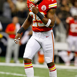 September 23, 2012; New Orleans, LA, USA; Kansas City Chiefs safety Eric Berry (29) against the New Orleans Saints during the first quarter of a game at the Mercedes-Benz Superdome. Mandatory Credit: Derick E. Hingle-US PRESSWIRE