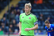 Jay McEveley during the Sky Bet League 1 match between Rochdale and Sheffield Utd at Spotland, Rochdale, England on 27 February 2016. Photo by Daniel Youngs.