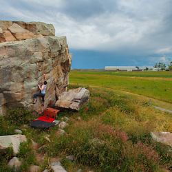 Bouldering Big Rock Alberta