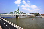 Eastern Europe, Hungary, Budapest, The Danube River Liberty Bridge