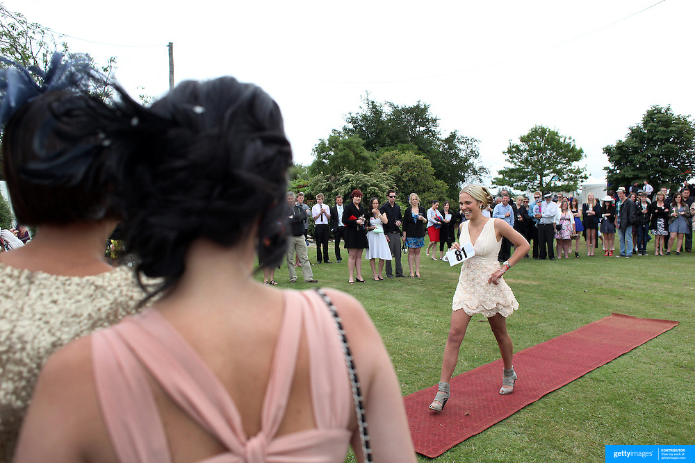Fashions in the field during a day at the Races at the Gore Race Meeting, Gore, Southland, New Zealand. 18th December 2011. Photo Tim Clayton